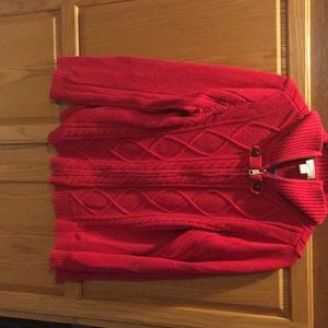 Red zip sweather